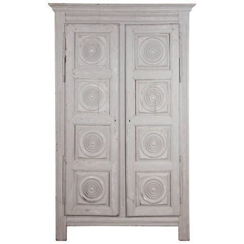 Grey Wardrobe Armoire Grey Wash Wardrobe Armoire With Ornamental Carved