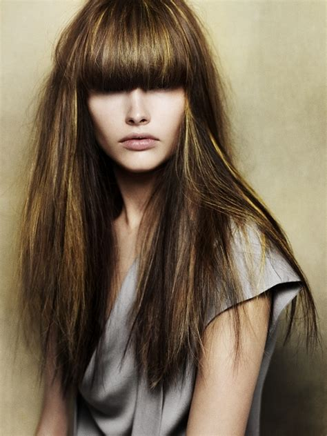 brunette hairstyles with highlights and bangs best highlights for brunettes fall 2013