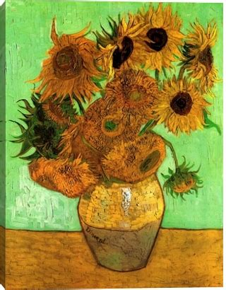 vincent gogh vase with twelve sunflowers gallery direct prints vase with twelve