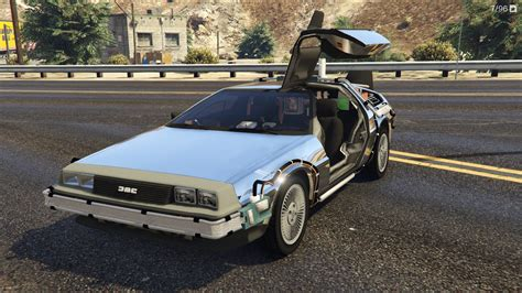 mod gta 5 delorean back to the future delorean time machine 3 car pack