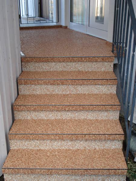 treppen steindesign kieselbeschichtung steinteppich - Kieselbeschichtung Treppe