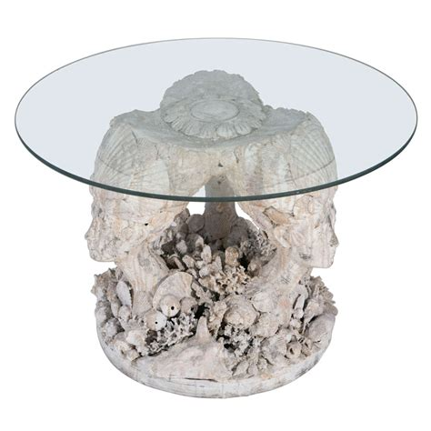 Bust Tables by 1970s Seashell Bust Side Table At 1stdibs