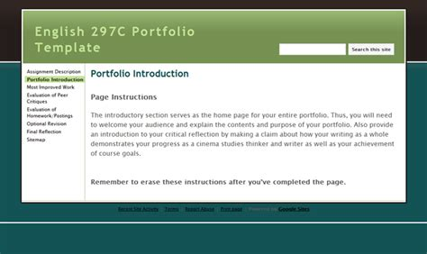 e portfolio templates free uw cic faculty guide eportfolio