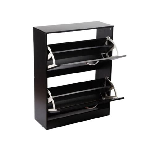 shoe storage cabinet black 2 compartments wood shoe storage cabinet black