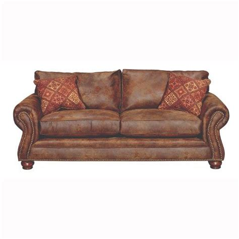Brown Leather Sofa Sleeper Tahoe 90 Quot Brown Faux Leather Sofa Sleeper