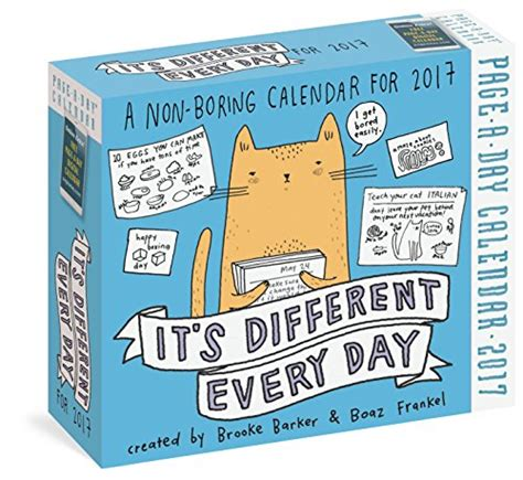 its different every day 0761193316 galleon it s different every day page a day calendar 2017