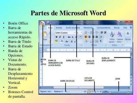 partes de la ventana de microsoft word office de 2016 que es una computadora y sus partes
