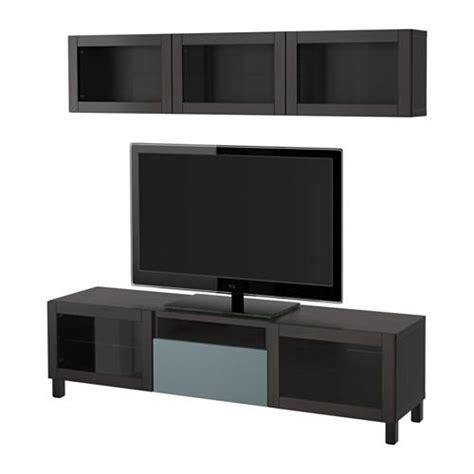 besta tv platte best 197 tv schrank kombinierte glast 252 ren schwarzbraun