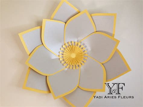 paper flowers templates paper flower template 25 in silver and gold shimmery card