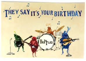 pack of 10 beatles happy birthday postcards ten beetles bday musical oldies cards 10
