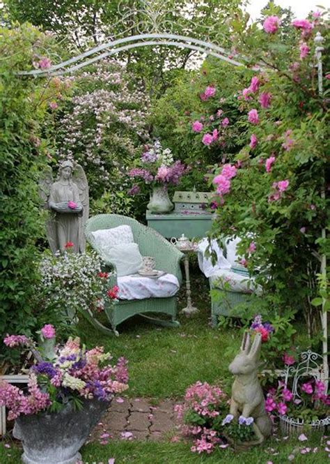 shabby chic rose garden ideas