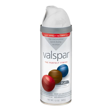 shop valspar 12 oz white flat spray paint at lowes