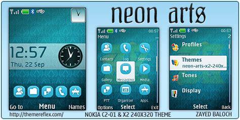 nokia vip themes neon arts theme for nokia x2 c2 01 240 215 320 themereflex