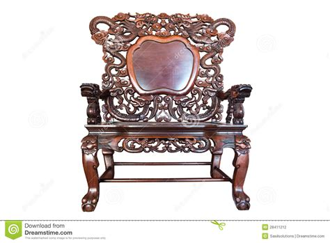 Large Wooden Chair by Large Wooden Polished Chair Stock Photography