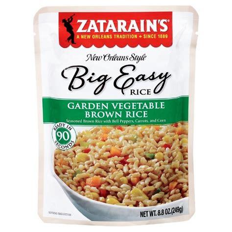 Garden Vegetable Rice Zatarain S 174 New Orleans Style Big Easy Rice Garden