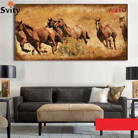 q where to purchase horse wall art home decor wall decor 1 piece picture running ancient horse modern home wall