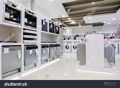 home appliance store stock photo 391205878