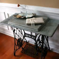 sale sewing machine table cottage chic house grey