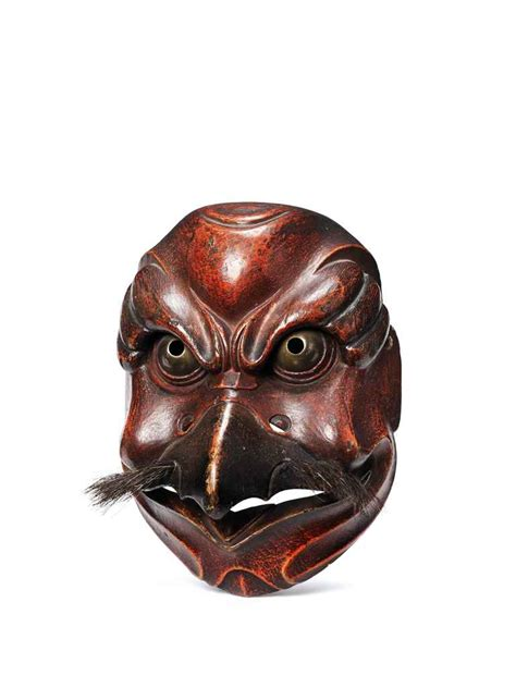Masker Krisbow a kyogen mask of tobi black kite edo period 18th century christie s