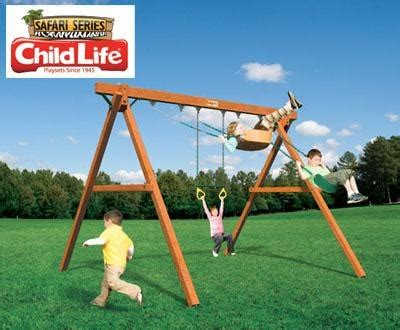 just swings swing set jungle swinger the best part of owning a swing set is