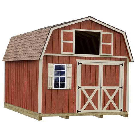 best barns millcreek 12x16 wood shed free shipping