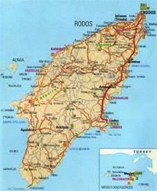 Rhodes Greece Map by Rhodes Island Travel Information Itravelfirst