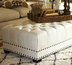 pottery barn tufted ottoman 1000 images about living room on pinterest sectional