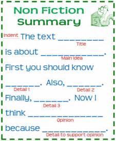 nonfiction summary template anchor chart home ideas