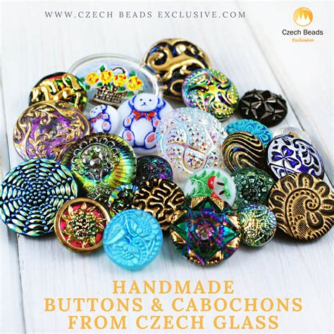 Handmade Buttons - handmade buttons and cabochons from glass