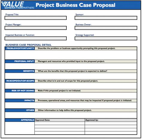 business case template business business case template