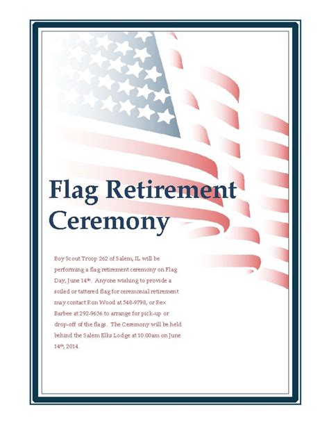 flag retirement ceremony greater salem chamber of commerce