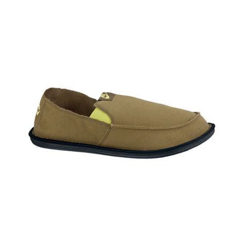 nike solarsoft lakeside slip on shoes in khaki for