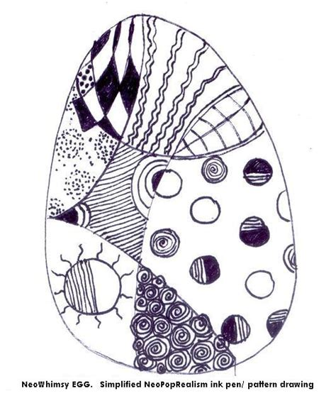 egg pattern drawing neowhimsy egg easter grades 3 5 adapt 6 8