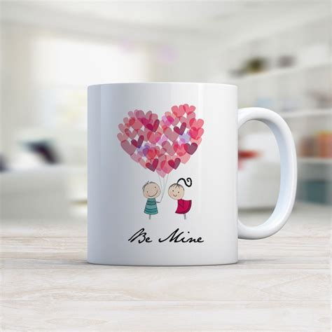 valentines day mugs be mine valentines day mug gifts gift