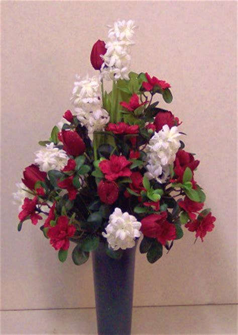silk flowers for cemetery vases cemetery vase flower arrangement for county michigan mi