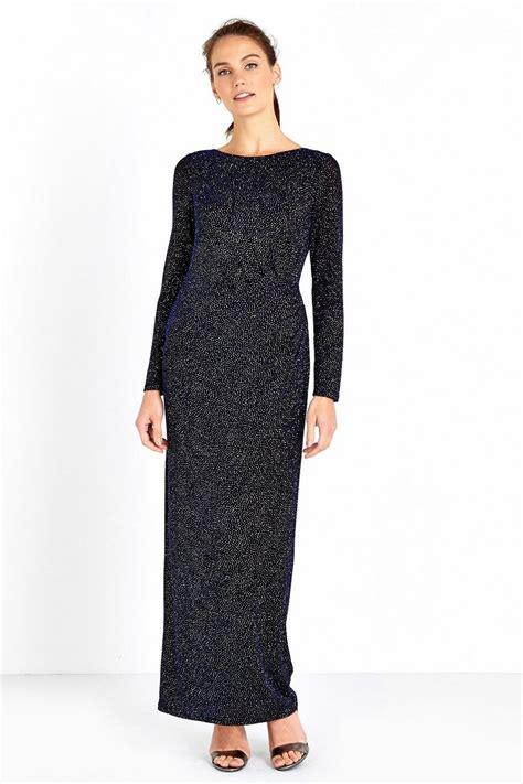 Sleeve Maxi Dress navy sparkle sleeve maxi dress wallis