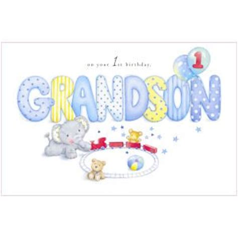 Birthday Card For Grandson 1st Birthday Grandson 1st Birthday Card Elliot Buttons Amazon Co