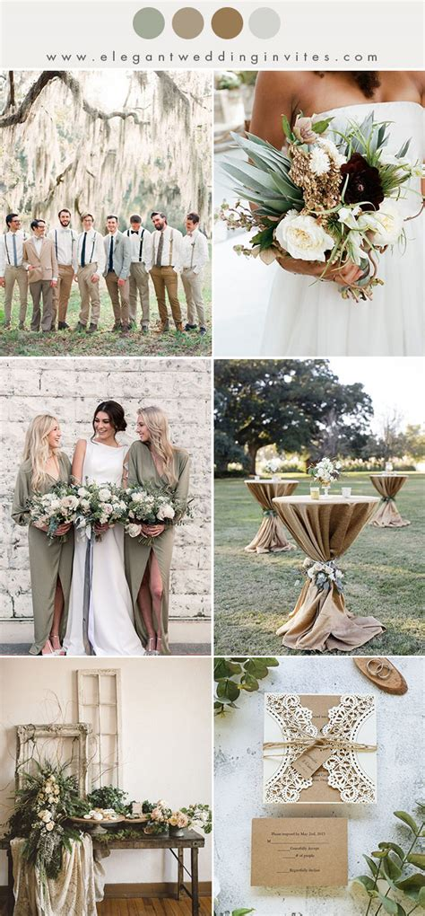 10 chic earth tone fall and winter wedding color combos elegantweddinginvites