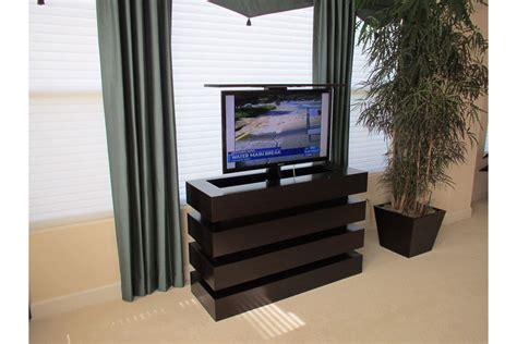 Bedroom Pop Up Tv Motorized Tv Lift Cabinet Le Bloc Custom Modern Pop Up