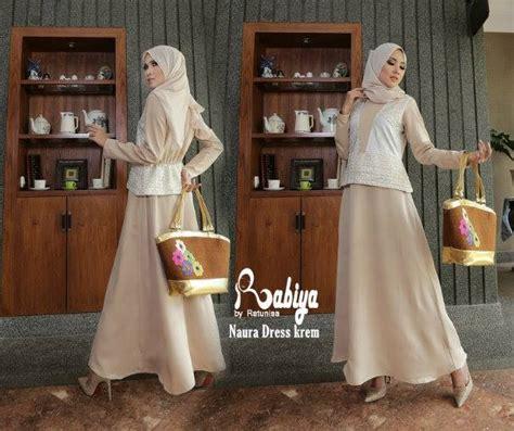 Baloteli Kyla Gamis Kyla Dress naura krem baju muslim gamis modern