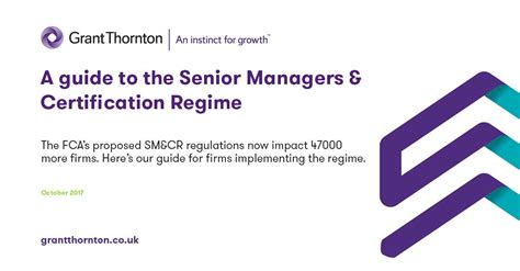 A Certification Guide a guide to the senior managers certification regime