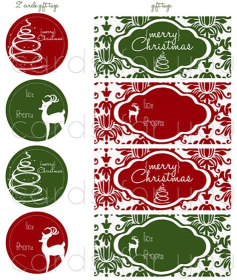 free printable round christmas gift tags 8 best images of classy christmas printable round labels