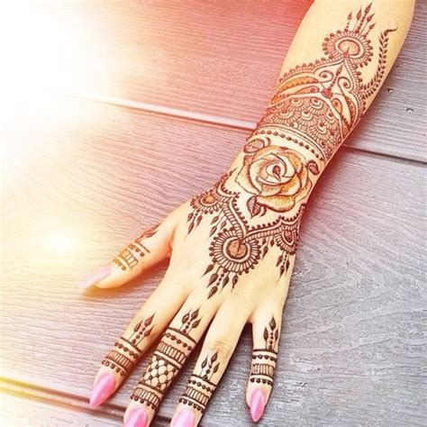 henna rose tattoo tumblr mehndi on