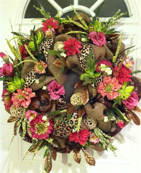 spring wreaths burlap wreath door wreath spring wreath funky by