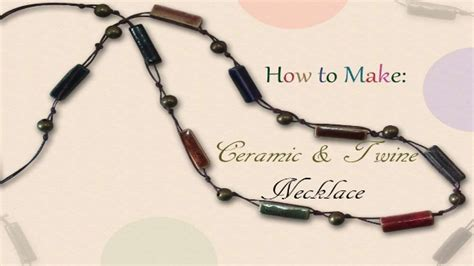 where to buy things to make jewelry how to make a ceramic twine necklace diy jewelry