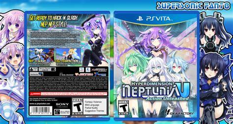 Psvita Hyperdimension Neptunia U Unleased R1 hyperdimension neptunia u unleashed playstation vita box cover by supersonicfan78