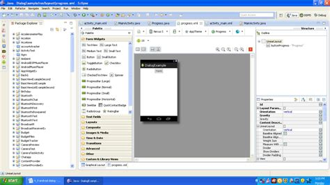 layout of xml file android dialog android programming by wideskills