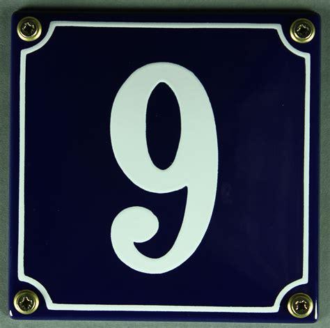 Hausnummer Weiß Metall by Hausnummernschild 9 Blau Wei 223 12x12 Cm Sofort Lieferbar