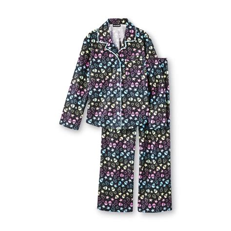 Piyama Pink Mustachee Set 2in1 flannel pajamas