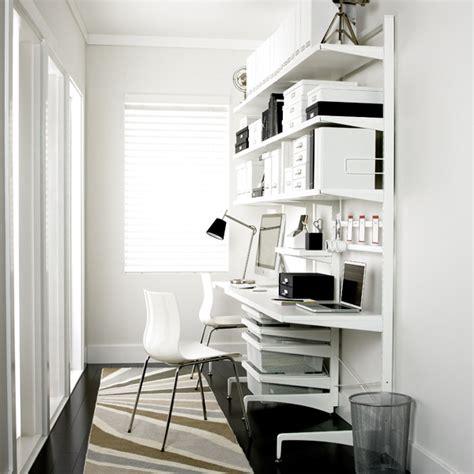 White Elfa D 233 Cor Freestanding Office The Container Store White Desk Decor
